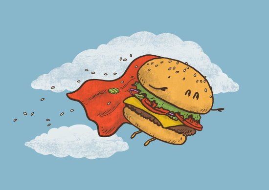 Superburger! Canvas Print