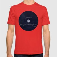 Shoot for the Moon Mens Fitted Tee Red SMALL