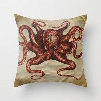 ä Octopus  Throw Pillow