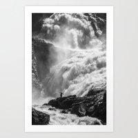 Dancing Falls Art Print