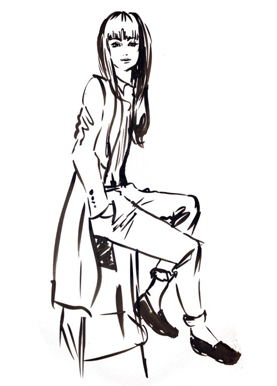 'Coat' Fashion Illustration Art Print