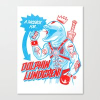 A Juicebox for Dolphin Lundgren Canvas Print