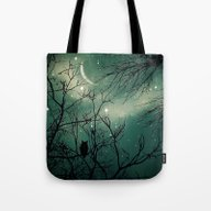 Tote Bag featuring Stardust by AndreaClare
