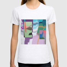 Split and Twist Womens Fitted Tee Ash Grey SMALL