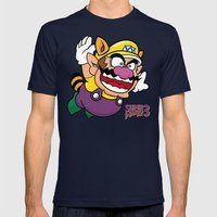Super Wario Bros. 3 Mens Fitted Tee Navy SMALL