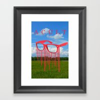 Rays Framed Art Print
