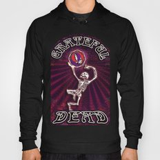 Grateful Dead Dancing Skeleton #2 Graceful Bones Vibrant Optical Illusion Design Hoody
