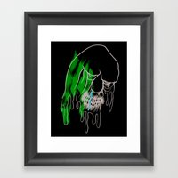 Face Illustration 8 Framed Art Print
