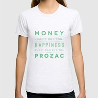 Prozac Nation Womens Fitted Tee Ash Grey SMALL