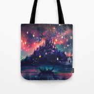 Tote Bag featuring The Lights by Alice X. Zhang