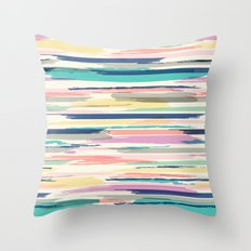 Painted_Stripe Throw Pillow