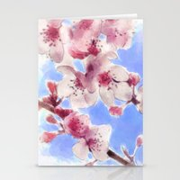 Japanese Cherry Blossoms Stationery Cards