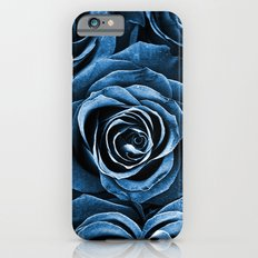 Rose Bouquet in Blue iPhone 6 Slim Case