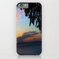 SUNSET BETWEEN TREES. iPhone 6 Slim Case