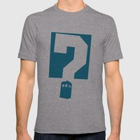 Doctor  Who? Mens Fitted Tee Athletic Grey SMALL