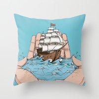 GIVING AWAY Throw Pillow
