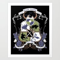 Dragon Training Crest - … Art Print