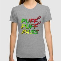 Puff Puff Pass Womens Fitted Tee Tri-Grey SMALL