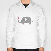 Elephants in love (white) Hoody