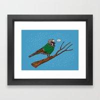 Annoyed IL Birds: The Sparrow Framed Art Print