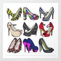 shoes Art Prints featuring Shoes by Annabelle Scott
