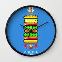 BurgerTime Wall Clock