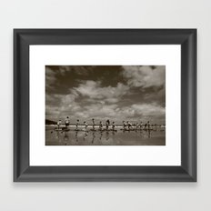 Wipe out! Framed Art Print
