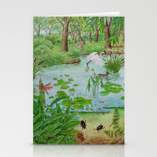 A Day of Forest (4). (the lake ecosystem) Stationery Card