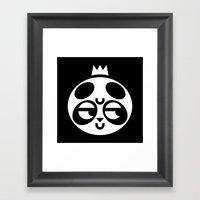 Dubious Panda Framed Art Print
