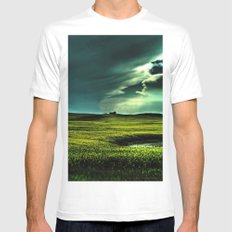 Passing Through SMALL White Mens Fitted Tee