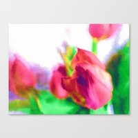Harborough Tulips - Wate… Canvas Print