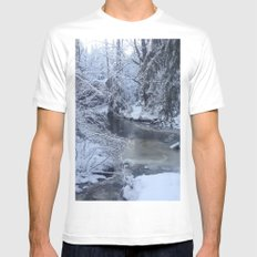 St-André river Mens Fitted Tee White SMALL