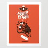 Skateboards Art Print