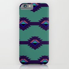 Blue Aztec Design iPhone 6 Slim Case