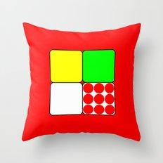 Tour de France Jerseys 3 Red Throw Pillow