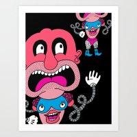 Red Face Weirdo Art Print