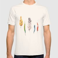 Falling All Around Me Mens Fitted Tee Natural SMALL