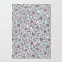 Pastel Sketched Floral Canvas Print