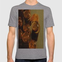 A Penny For Your Thoughts. Mens Fitted Tee Athletic Grey SMALL