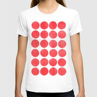 Colorplay Flamingo Womens Fitted Tee White SMALL
