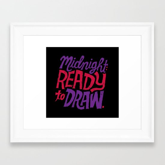 Midnight: Ready to Draw Framed Art Print