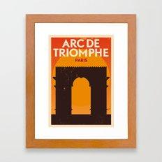 Paris City Retro Poster Framed Art Print