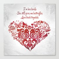 Baybeh Heart Haiku Canvas Print