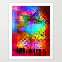 Modern Judaica- Wailing … Art Print