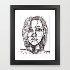 face Framed Art Print