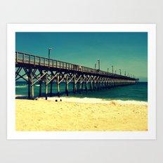 Surf City Pier Art Print