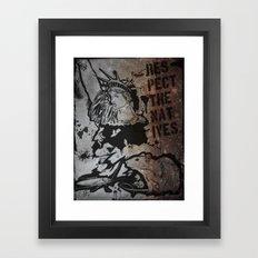Locals Only - New York City. Framed Art Print