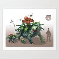 Pokemon-Venusaur Art Print