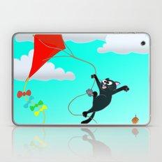 Cat on a Kite - Autumn Cat Laptop & iPad Skin