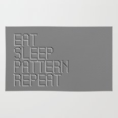 Eat Sleep Pattern Repeat Rug